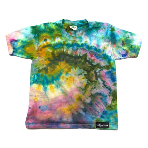 Youth X-Small, Jerzees, Size 2/4, Ice Dyed-- Tie Dyed T Shirt XS
