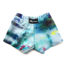 Load image into Gallery viewer, 6-9 Months, Sweatshirt Tie Dyed Shorts Made With Ice Dye, Cozy and Comfy