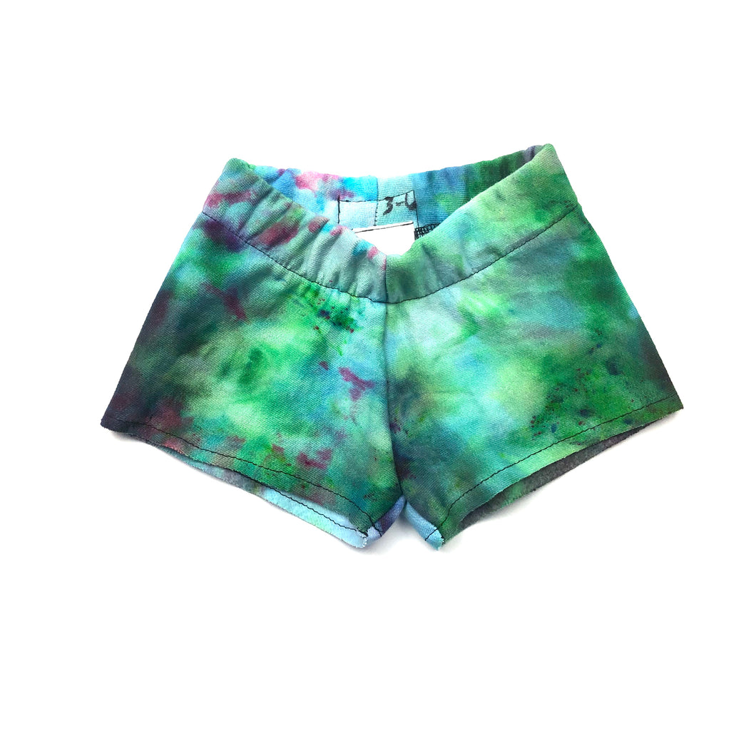 3-6 Months, Sweatshirt Tie Dyed Shorts Made With Ice Dye, Cozy and Comfy