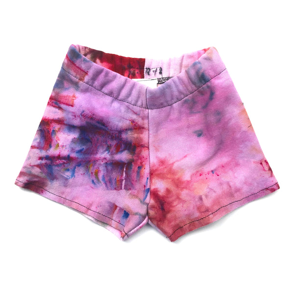 12-18 Months, Sweatshirt Tie Dyed Shorts Made With Ice Dye, Cozy and Comfy
