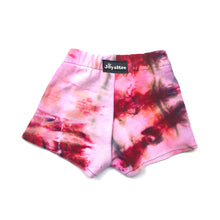 Load image into Gallery viewer, 12-18 Months, Sweatshirt Tie Dyed Shorts Made With Ice Dye, Cozy and Comfy