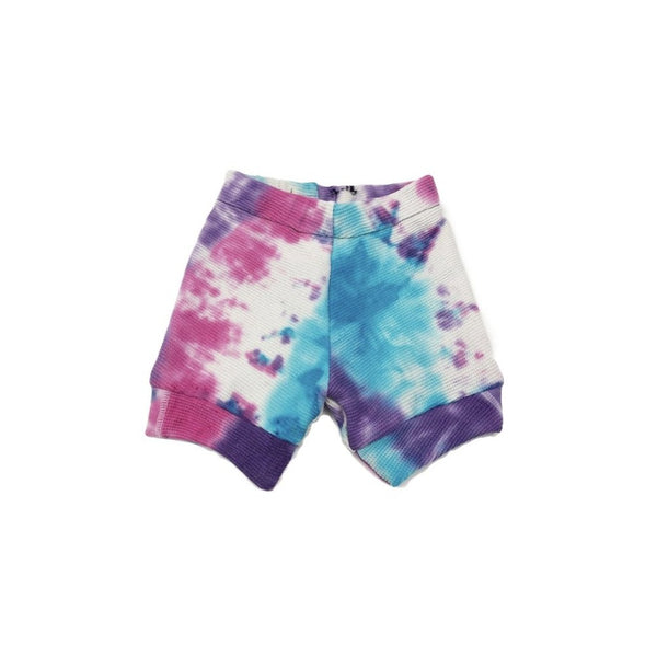 12-18 Months, Tie Dyed Waffle Knit Upcycled Shirt Shorts