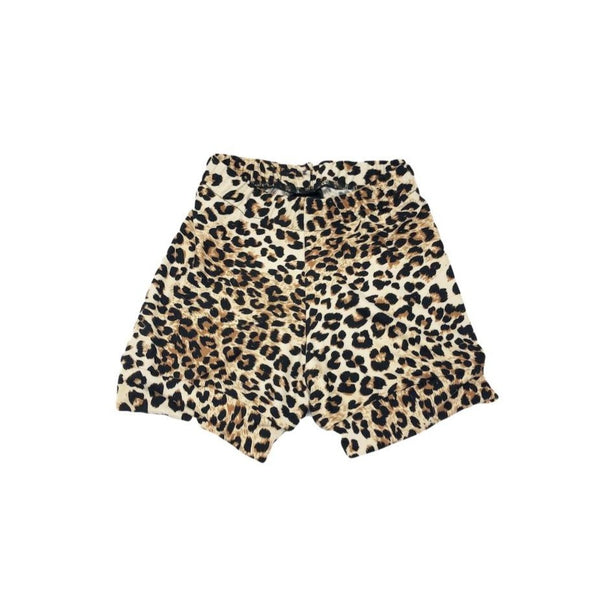 2T, Cheetah Animal Print Upcycled T Shirt Shorts, Super Soft