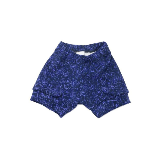2T, Purple Soft Crepe Upcycled Shorts