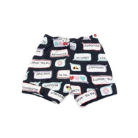 2T, Cool Patterned Upcycled Shirt Shorts
