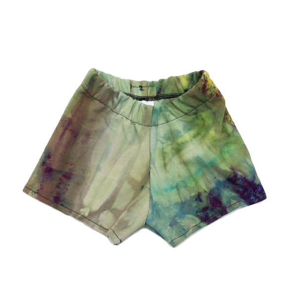 2T, Sweatshirt Tie Dyed Shorts Made With Ice Dye, Cozy and Comfy