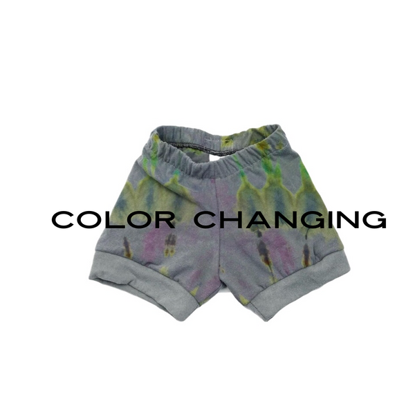 "2T, ""Shadow Shifters"" Heat Reactive & Color Changing Upcycled Shorts"