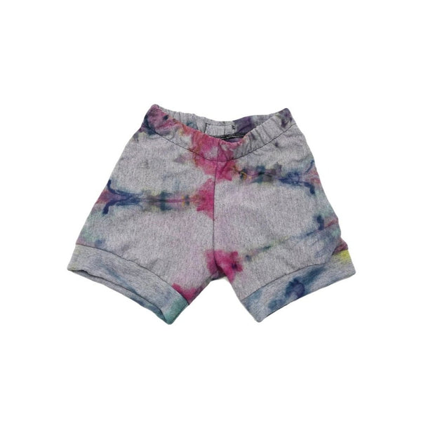 3T, Tie Dyed Upcycled T-Shirt Shorts