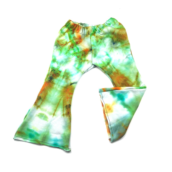3T, Tie Dyed Sweatshirt Upcycled Bell Bottoms