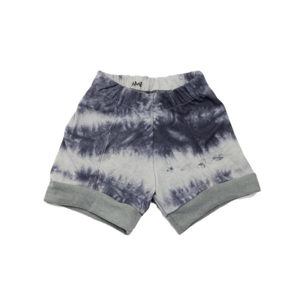 12-18 Months, Tie Dyed Upcycled Shorts with Color Change Cuffs!