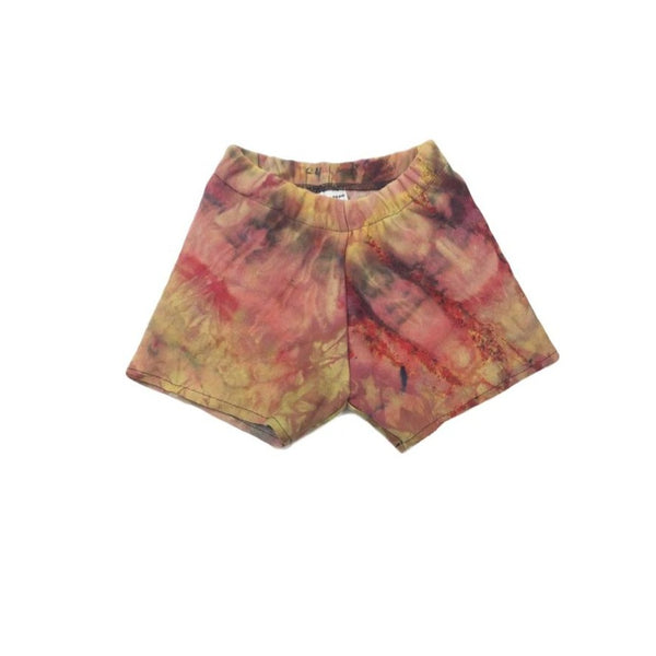 4T, Sweatshirt Tie Dyed Shorts Made With Ice Dye, Cozy and Comfy