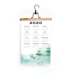 2020 Wall Calendar in Emerald Horizon