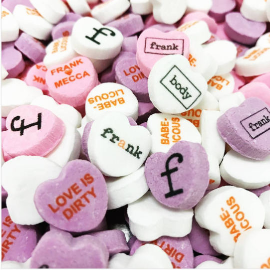custom logo candy hearts