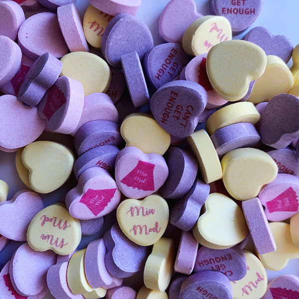.Custom Candy Hearts: 900 hearts