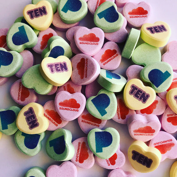 logo on candy hearts