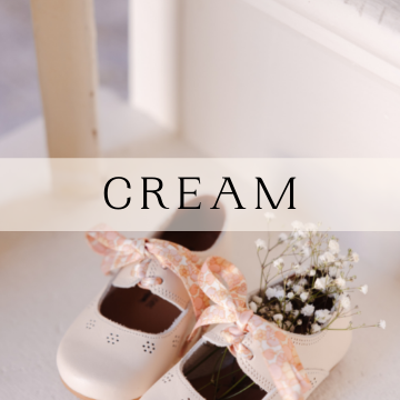 Cream Leather Shoes