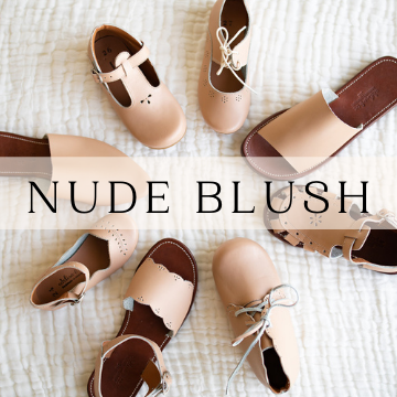 Nude Blush Leather Shoes