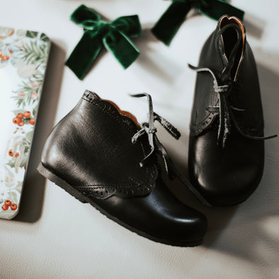 SECONDS Black Primavera {Children's Leather Boots}