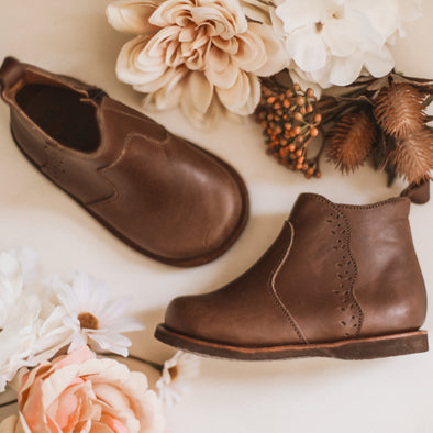 SECONDS Dark Brown Ophelia {Leather Boots}