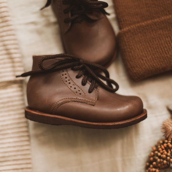 Dark Brown Paseo {Leather Boots}