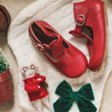 Red Dalia {Children's Leather Shoes}