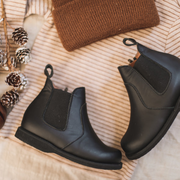 PRE-ORDER Black Viajero {Leather Boots}