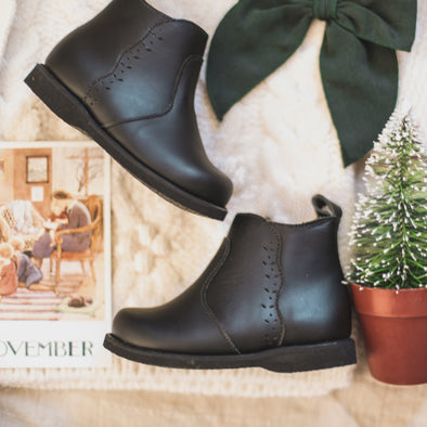Black Ophelia {Leather Boots}