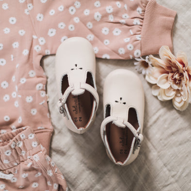 Cream Dalia {Children's Leather Shoes}