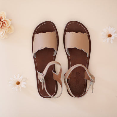 Nude Blush Bella {Women's Leather Sandals}
