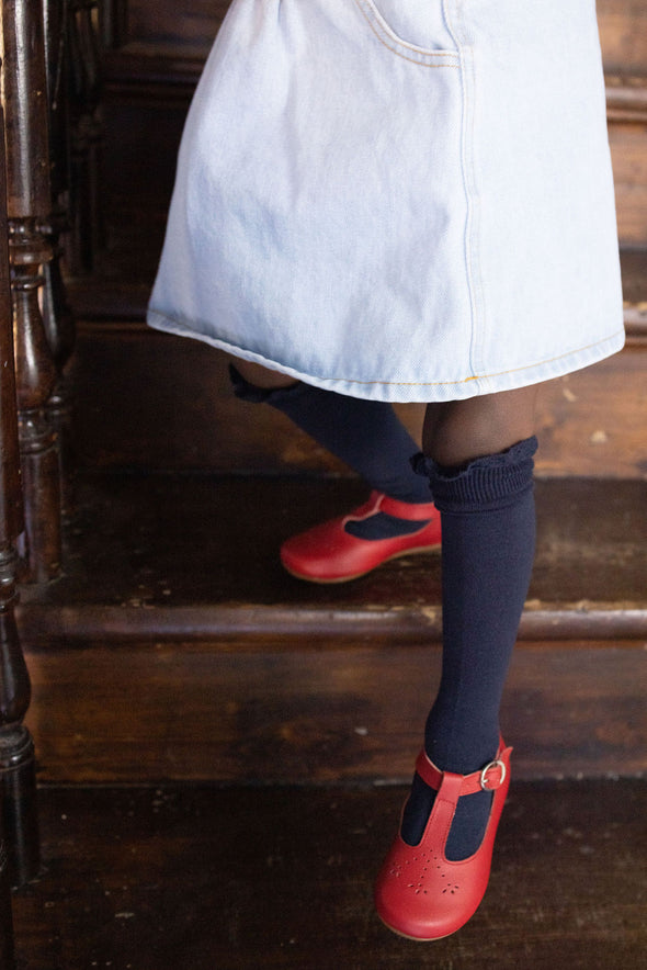 Red Catarina Mary Jane {Children's Leather Shoes}