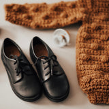 Black Antigua Oxford {Children's Leather Shoes}