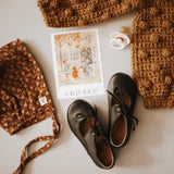 Black Sol Flats {Children's Leather Shoes}