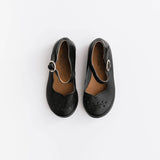 Black Cosecha Mary Janes {Leather Shoes}