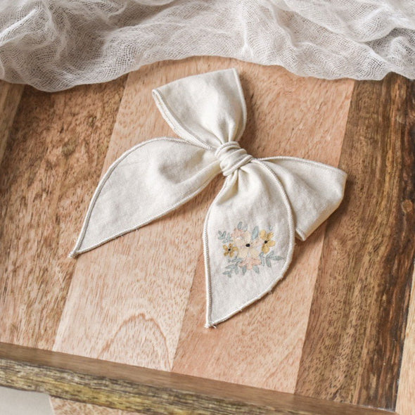 Whimsy - Hand Painted Hair Bow - Adelisa & Co x. Dear Darling Littles