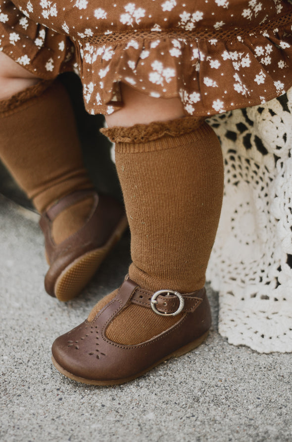 Dark Brown Catarina Mary Jane {Children's Leather Shoes}