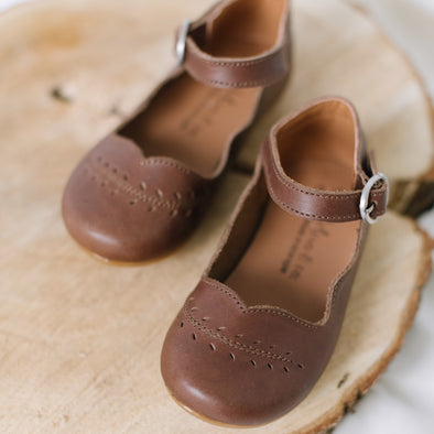 Dark Brown Cosecha Mary Janes {Leather Shoes}