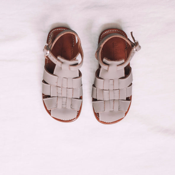 Grey Aventura {Children's Leather Sandals}