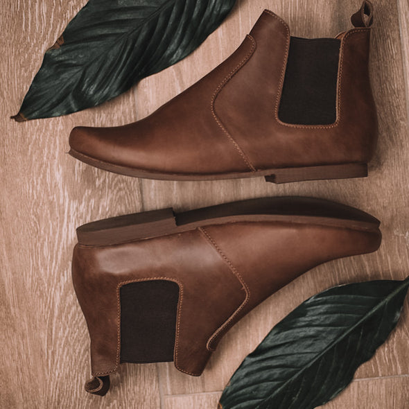 Dark Brown Viajero Chelsea Boot {Women's Leather Boots}