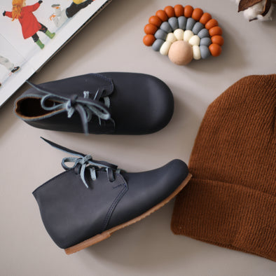 SECONDS SALE Navy Ticuantepe {Children's Leather Boots}