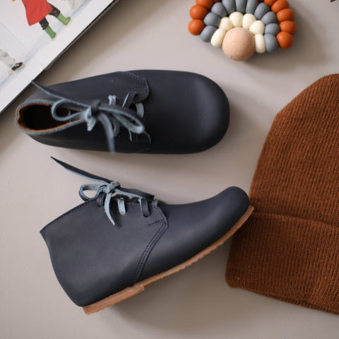 Navy Ticuantepe {Children's Leather Boots}