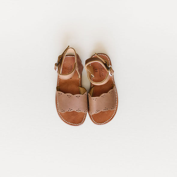 Adelisa & Co's Bella sandals. Handmade vintage style leather sandals for girls. Crafted by artisans.