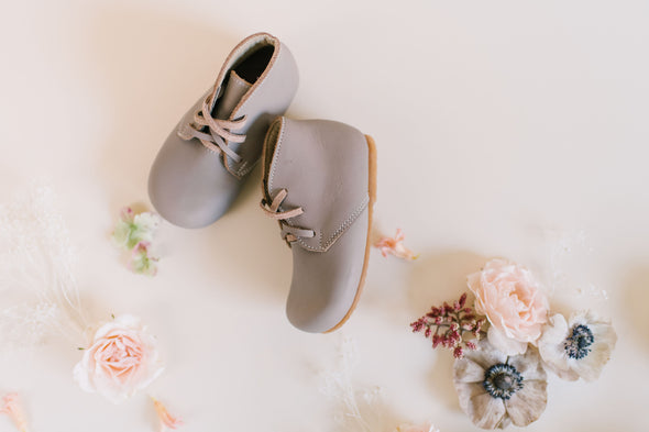 Grey Ticuantepe {Children's Leather Boots}