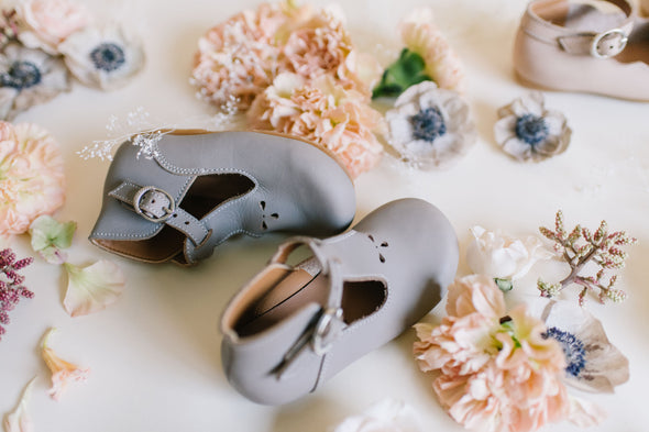 Grey Dalia {Children's Leather Shoes}