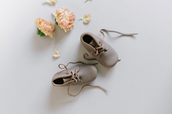 SECONDS Grey Ticuantepe {Children's Leather Boots}