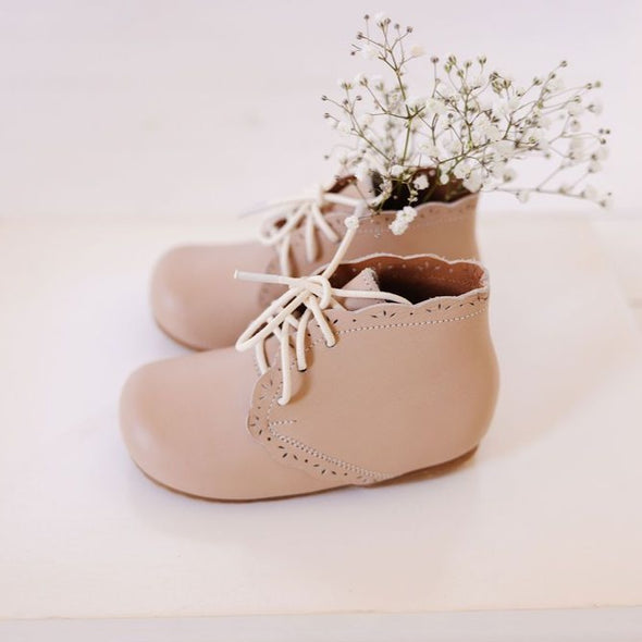 Nude Blush Primavera {Children's Leather Boots}