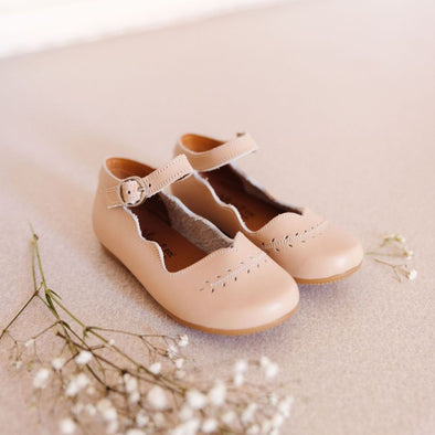 Nude Blush Cosecha Mary Janes {Children's Leather Shoes}