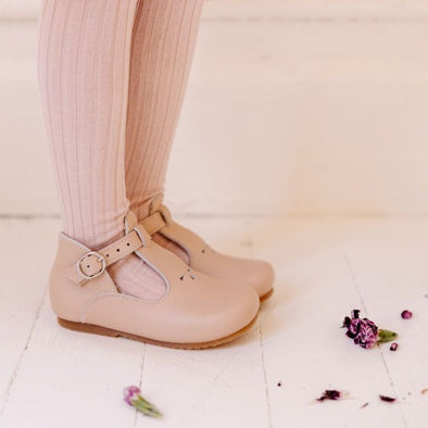 Nude Blush Dalia {Children's Leather Shoes}
