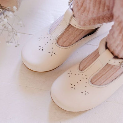 Cream Catarina Mary Jane {Children's Leather Shoes}