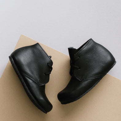 Black Ticuantepe {Children's Leather Boots}