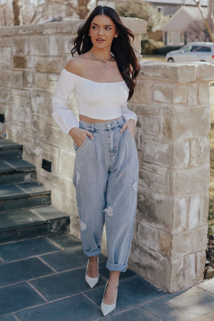 Lena Off Shoulder Top (WHITE)